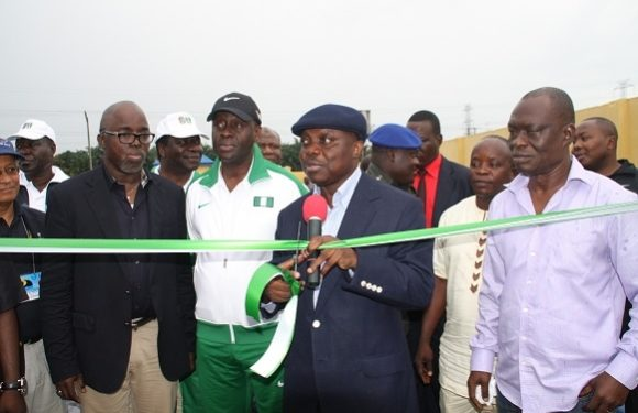 SPORTS: Delta Commissions Olympic Swimming Complex