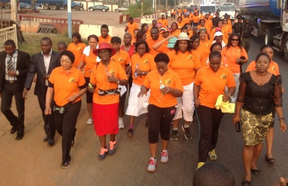 """Delta First Lady Leads 12.22km """"Walk 4 Life"""" *Encourages Women On Fitness"""