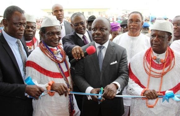 Uduaghan takes cleanliness campaign to schools * Inaugurates Ultra Modern Sch Buildings in Warri