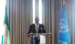 Governor Uduaghan Speaking at an African Business Roundtable-organized workshop on combating emerging threats held on the sidelines of the on-going United Nations General Assembly in New York
