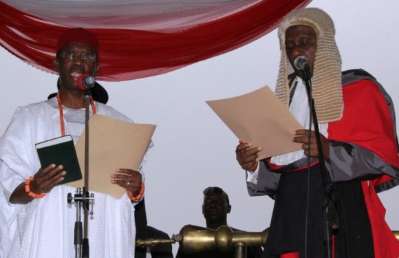Okowa Sworn-In As Governor, Outlines Prosperity Programmes For Deltans