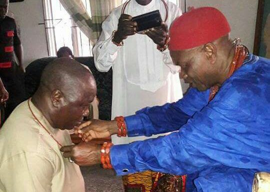 """BASHORUN OGIEH CONFFERED WITH """"OSE EMO"""" CHIEFTAINCY TITLE ***Promises More Empowerment In Isoko"""