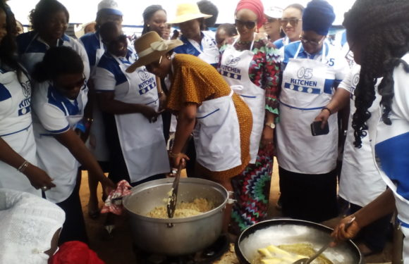 "See How Wife Of Delta Governor, Dame Edith Okowa Turned ""Chef"" On Children's Day"