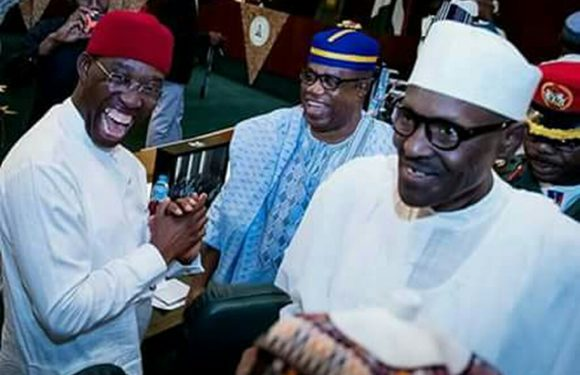SEE WHY GOV. OKOWA IS FAVOURITE OF NIGERIAN PRESS *AS PMB HAILS OKOWA @ NEC MEETING