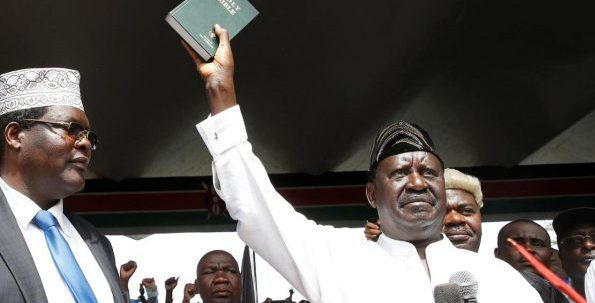 "Kenya Opposition Leader Odinga Risks Death Penalty ***Declares Self ""People's President"""