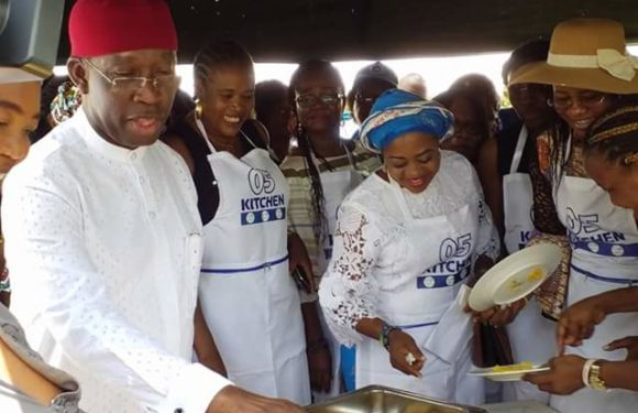 CHILDREN'S DAY: Gov Okowa And Wife Cook For Delta Children  **Urges Parents To Pay More Attention To Children