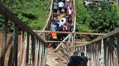 Governor, Journalists Escape Death As Newly Commissioned Bridge Collapse