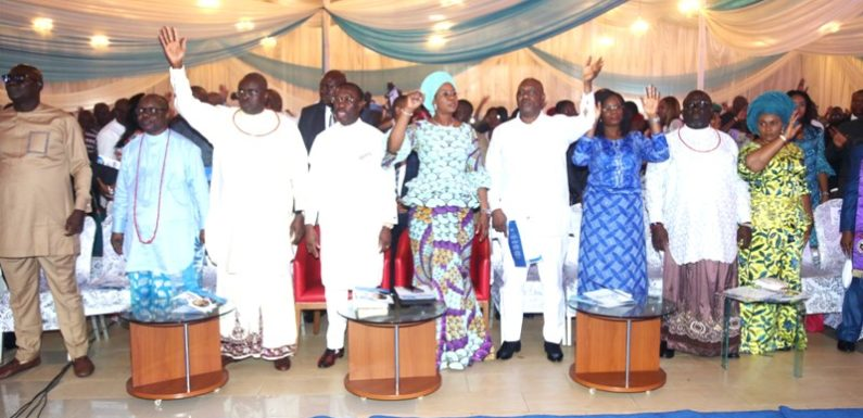 DEMOCRACY DAY: Okowa Assures Of More Projects  … As Deltans Gather In Asaba For Praise And Thanksgiving To God