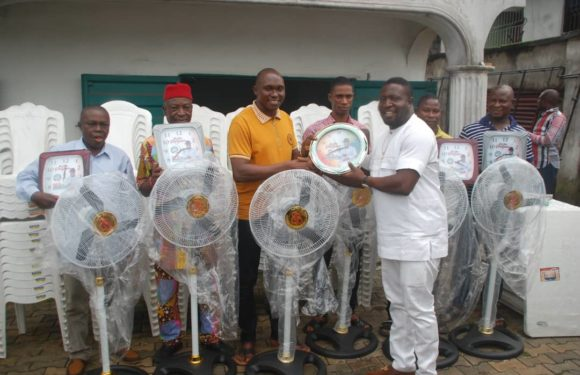 VICTOR EGBO DONATES CHAIRS TABLES AND STANDING FANS TO FIVE WARDS OF ISOKO SOUTH CONSTITUENCY 1