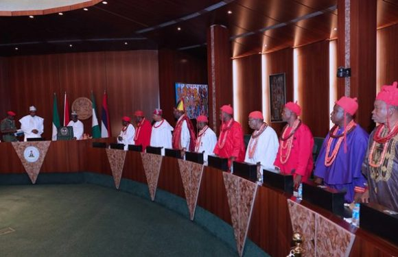 Gains Of Isoko Royal Fathers' Visit To Buhari: Presidency To Review 13% Derivation For Oil States