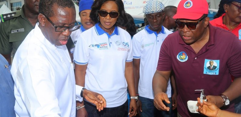 Thousands Throng Asaba For Grand Finale Of 05 Initiative Medical Outreach … As Okowa, Wife Pledge To Continue To Deliver Poeple Oriented Programmes