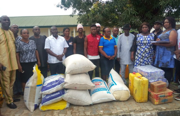 FLOOD VICTIMS GET RELIEF MATERIALS AT EMEDE, OZORO IDP CAMPS IN DELTA