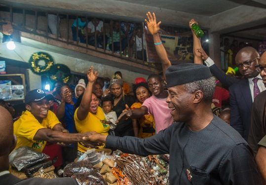 Nigeria's VP Osinbajo Inaugurates TraderMoni In Delta ***Meets Traders In Warri, Asaba