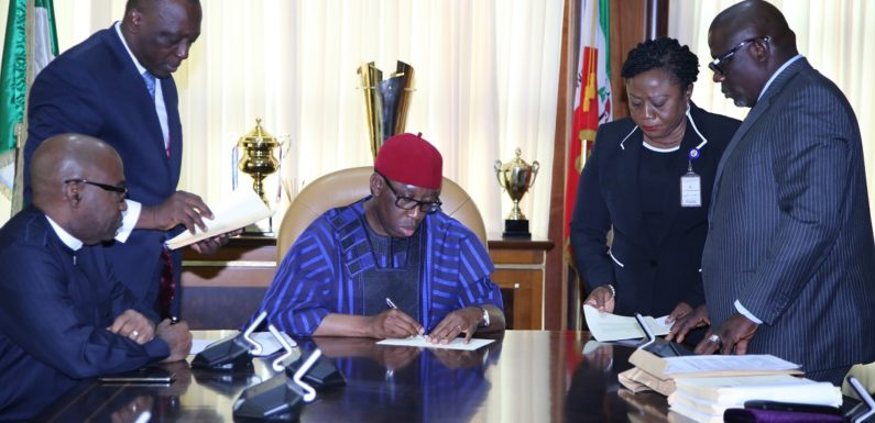 Okowa Signs 2019 Appropriation Bill Into Law