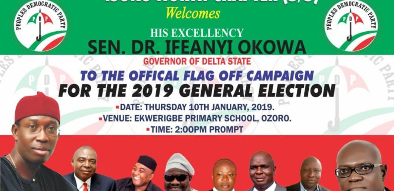 Ozoro, Set To Host PDP Campaign Rally -Says Egware