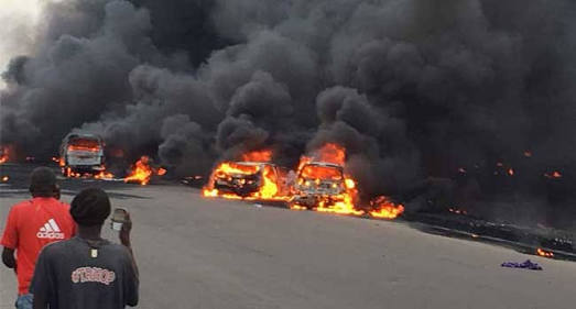 10 Dead, Many Injured Over Petrol Tanker Explosion In Anambra