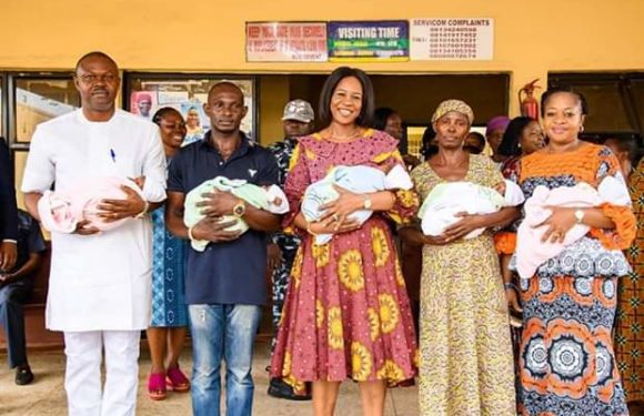 God-Sent: Dame Okowa Pays Hospital, Accommodation Bills For Quintuplets Who Lost Their Mother At Birth