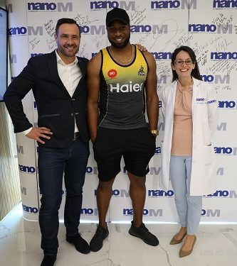 Ace cricketer Kieron Pollard visits the futuristic nanoM sports clinic in the UAE during PSL 2019