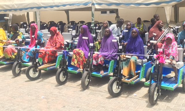 American, German Coys Donate Mobility Carts To Disabled IDPs In Borno