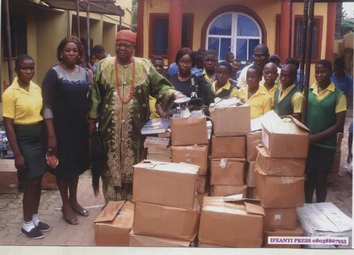 EDUCATION: Monarch's Wife Donates Books To Schools In Anambra