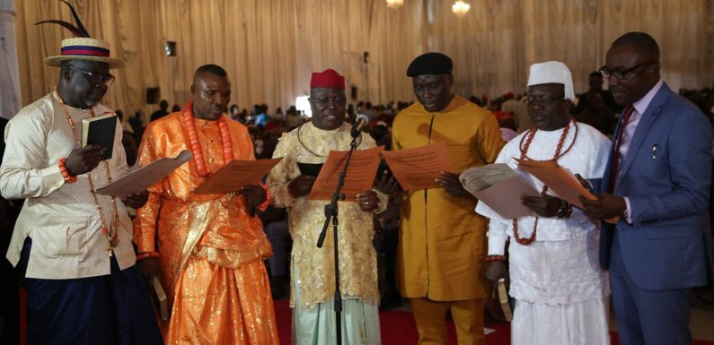 Gov. Okowa Inaugurates Board of DESOPADEC   **As MD/CEO Bashorun Askia Pledges Rebranding Of Commission
