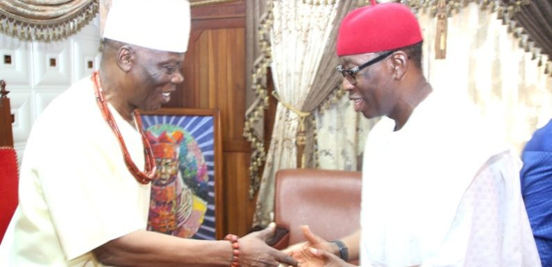 Gov. Okowa Commends Trad Rulers For Promoting Peaceful Delta