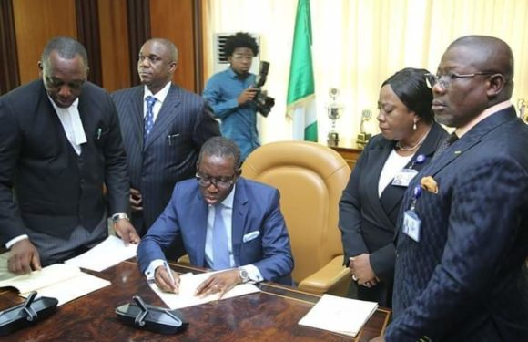 Breaking: Gov. Okowa Signs 2020 Delta State Appropriation Act Into Law