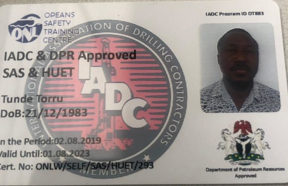 Produce Opeans Nig. Ltd IADC Accreditation for BOSIET, HUET, SAS —Larry Otu Dares Ben Nwoye