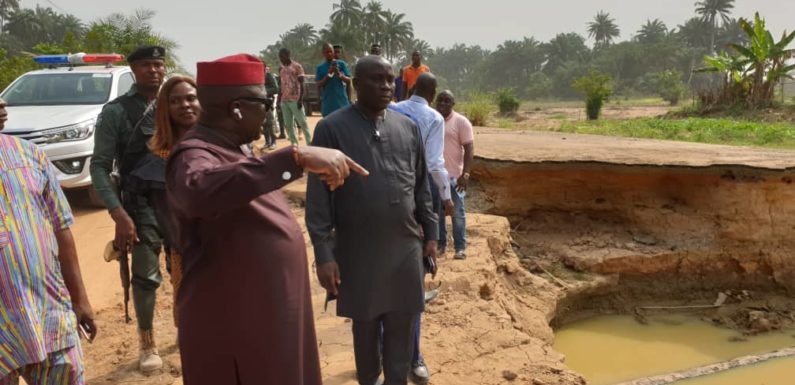 DESOPADEC Boss Bashorun Askia Leads Officials On Project Inspection In Isoko Nation