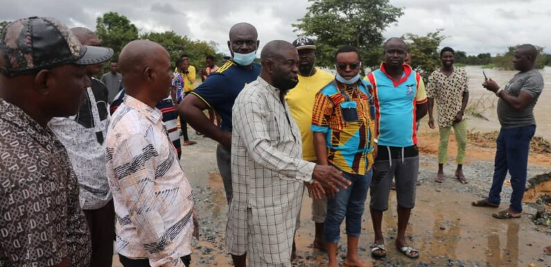 Isoko South, Patani, Ndokwa East LG Chairmen Visit Uzere, Asaba-Ase Road To Access Effects Of Flood Devastation