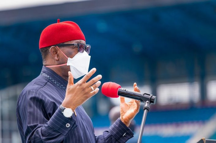 Gov. Okowa Visits Agbor Gas Explosion Site, Confirms 4 Dead, 11 Hospitalized