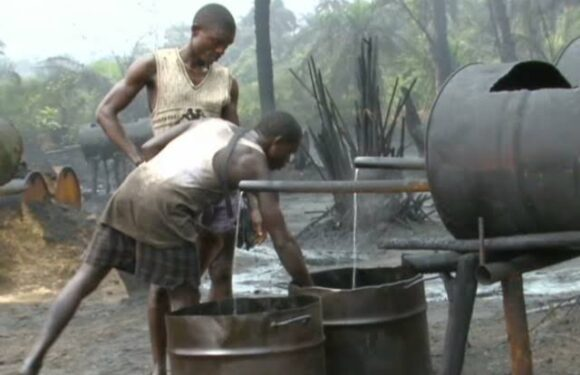 NAVY DESTROYS ILLEGAL REFINERIES IN DELTA, BENIN-RIVER BASIN **WARN OPERATORS