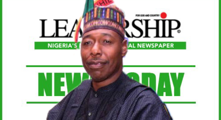 Zulum Wins Leadership Newspapers' Person Of The Year 2020