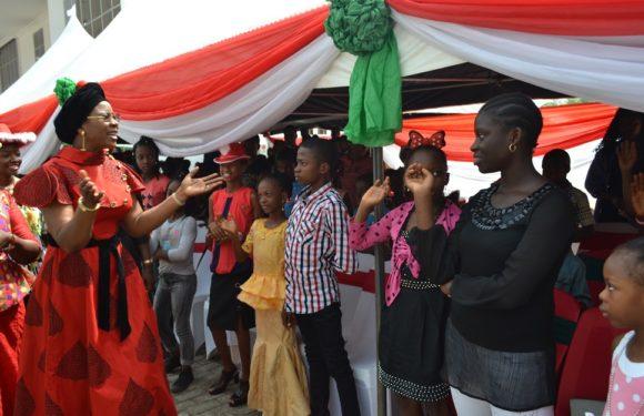 Delta Children Xmas Party: Dame Okowa Teaches Godly Principles