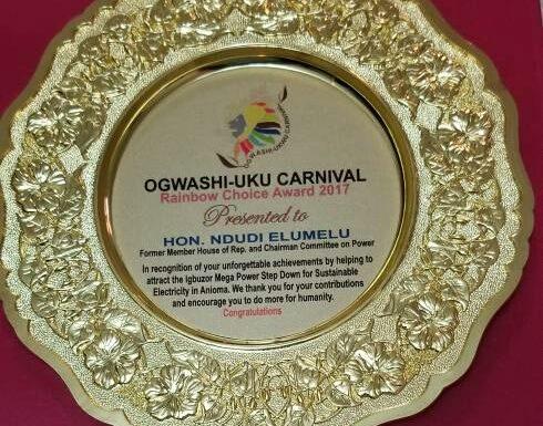 Elumelu Receives 2017 Rainbow Award for Contribution to Rural Electrification Development in Nigeria.