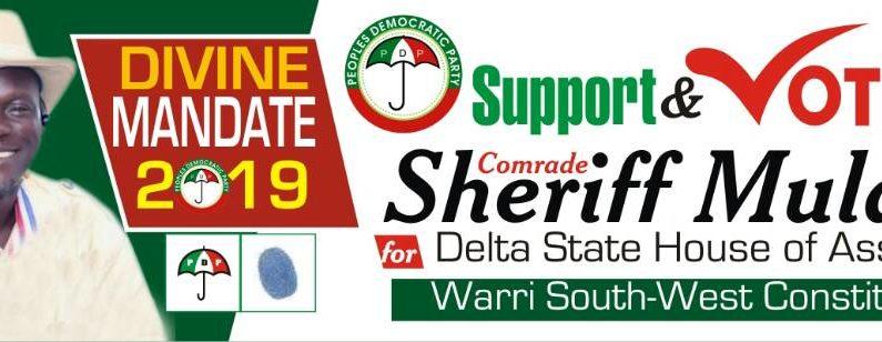 2019: House of Assembly Hopeful, Sheriff Mulade Solicits Supports Of Itsekiris