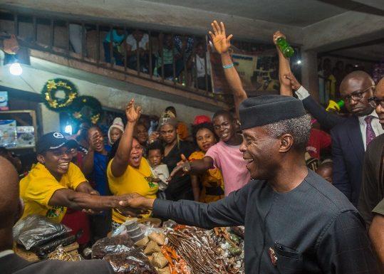 Nigeria's VP Osinbajo Inaugurates TraderMoni In Delta ***Meets Traders In Warri, Asaba