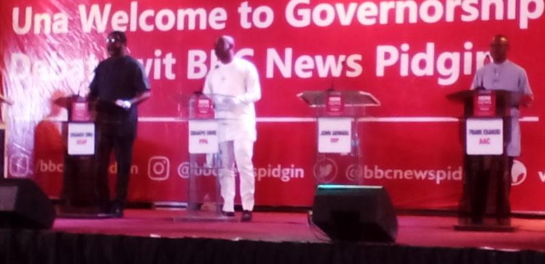 BREAKING NEWS…….  Okowa, Ogboru, Akwara Shun BBC Governorship Debate