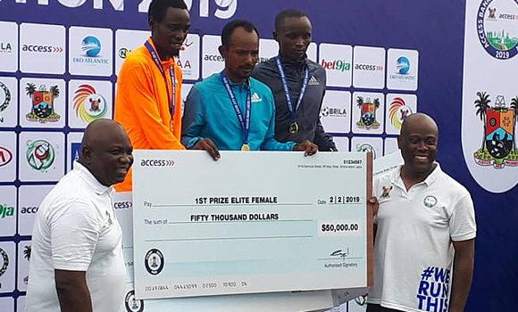 Lagos City Marathon: Ethiopian Athlete, Sintayehu Legese Coasts Home $50,000