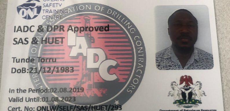 Produce Opeans Nig. Ltd IADC Accreditation for BOSIET, HUET, SAS —Larry Otu Dares Ben Nwoye