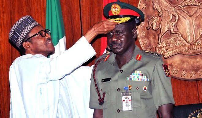 President Buhari And Lt. Gen Buratai